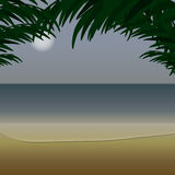 Vista di oceano dalla costa Illustrazione di Stock