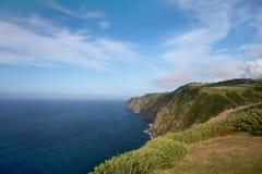 Vista di oceano dalle isole delle Azzorre, Portogallo Fotografie Stock