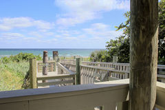 Vista di oceano del sud di Florida fotografia stock