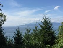 Vista di oceano della costa ovest Immagini Stock Libere da Diritti