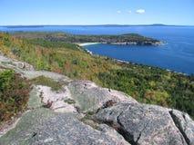 Vista di oceano di Acadia Fotografia Stock