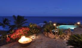 Vista di oceano di Beautyful alla notte Immagini Stock Libere da Diritti