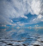 Vista di oceano drammatica Fotografie Stock
