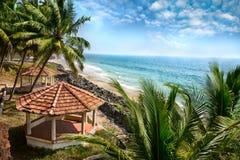 Vista di oceano nel Kerala immagini stock libere da diritti
