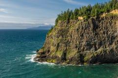Vista di oceano Pacifico da capo Meares Fotografie Stock