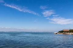 Vista di oceano, Tavernier, largo chiave, Florida Fotografie Stock Libere da Diritti