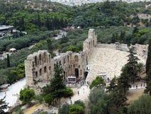 Vista di Odeon di Erodoto fotografia stock