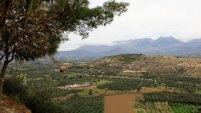 Vista di Olive Plantation e dell'alta montagna Fotografie Stock Libere da Diritti