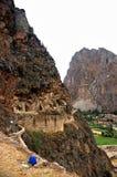 Vista di Ollantaytambo Fotografia Stock