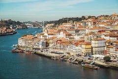 Vista di Oporto, Portogallo Fotografia Stock