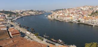 Vista di Oporto Portogallo cityscape fotografia stock
