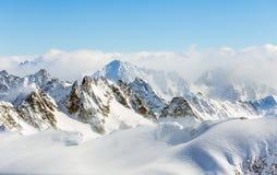 Vista di orario invernale dal Mt Titlis in Svizzera Immagine Stock