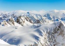 Vista di orario invernale dal Mt Titlis in Svizzera Immagine Stock Libera da Diritti