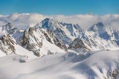 Vista di orario invernale dal Mt Titlis in Svizzera Fotografia Stock