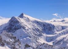 Vista di orario invernale dal Mt Titlis in Svizzera Immagini Stock Libere da Diritti