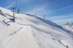Vista di orario invernale sul Mt Titlis in Svizzera Fotografia Stock
