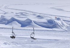 Vista di orario invernale sul Mt Titlis in Svizzera Fotografia Stock Libera da Diritti