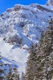 Vista di orario invernale sul Mt Titlis in Svizzera Immagine Stock Libera da Diritti