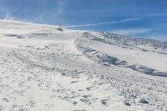Vista di orario invernale sulla cima del Mt Titlis in Svizzera Fotografia Stock
