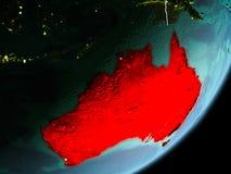 Vista di orbita dell'Australia Immagini Stock Libere da Diritti