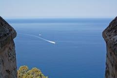 Vista di orizzonte della costa di Maiorca Fotografia Stock Libera da Diritti