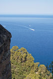 Vista di orizzonte della costa di Maiorca Fotografia Stock