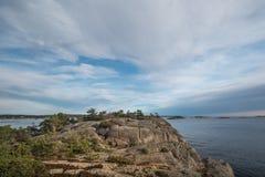 Vista di orizzonti di mare fotografie stock