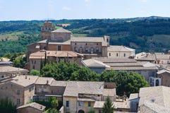 Vista di Orvieto. L'Umbria. L'Italia. Immagine Stock Libera da Diritti