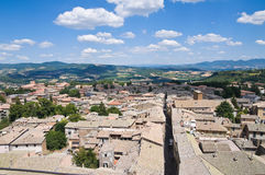 Vista di Orvieto. L'Umbria. L'Italia. Fotografia Stock Libera da Diritti