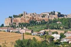 Vista di Orvieto. L'Umbria. L'Italia. Immagine Stock