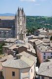 Vista di Orvieto. L'Umbria. L'Italia. Fotografia Stock