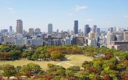 vista di Osaka del centro Fotografie Stock