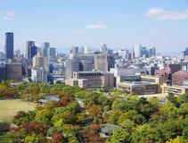 vista di Osaka del centro Fotografie Stock Libere da Diritti
