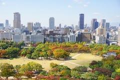 vista di Osaka del centro Fotografia Stock Libera da Diritti