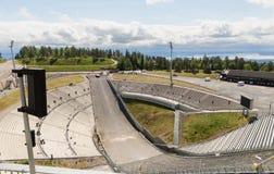 Vista di Oslo da Ski Jump Immagini Stock
