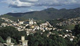 Vista di Ouro Preto, Brasile fotografie stock libere da diritti
