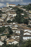 Vista di Ouro Preto, Brasile Immagini Stock