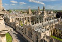 Vista di Oxford da Mary santa Fotografia Stock Libera da Diritti