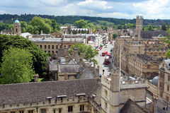 Vista di Oxford da sopra Fotografia Stock Libera da Diritti