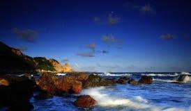 Vista di paesaggio del litorale; Sud della Cina Fotografie Stock