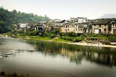 Vista di paesaggio del terreno coltivabile del sud della Cina Fotografia Stock Libera da Diritti