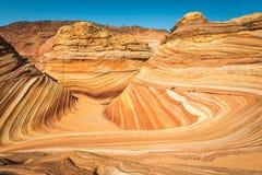Vista di paesaggio dell'onda dell'Arizona Fotografie Stock