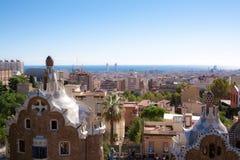 Vista di paesaggio di Barcellona Immagini Stock Libere da Diritti