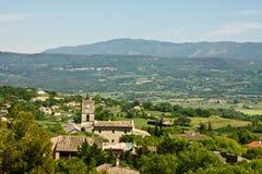 Vista di paesaggio di Goult, Francia Fotografia Stock