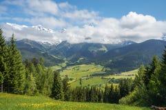 Vista di paesaggio in Maria Alm Fotografia Stock Libera da Diritti