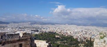 Vista di paesaggio urbano di Atene fotografie stock libere da diritti