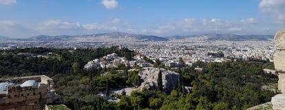 Vista di paesaggio urbano di Atene fotografia stock