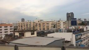 Vista di paesaggio urbano a Bangkok, Tailandia archivi video