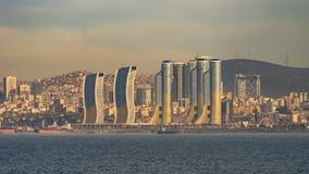 Vista di paesaggio urbano di Costantinopoli dal mare immagini stock libere da diritti