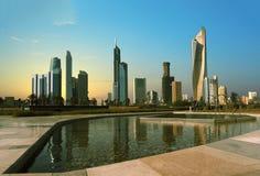 Vista di paesaggio urbano del Kuwait fotografie stock libere da diritti